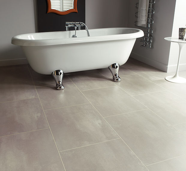 luxury vinyl tiles in bathroom