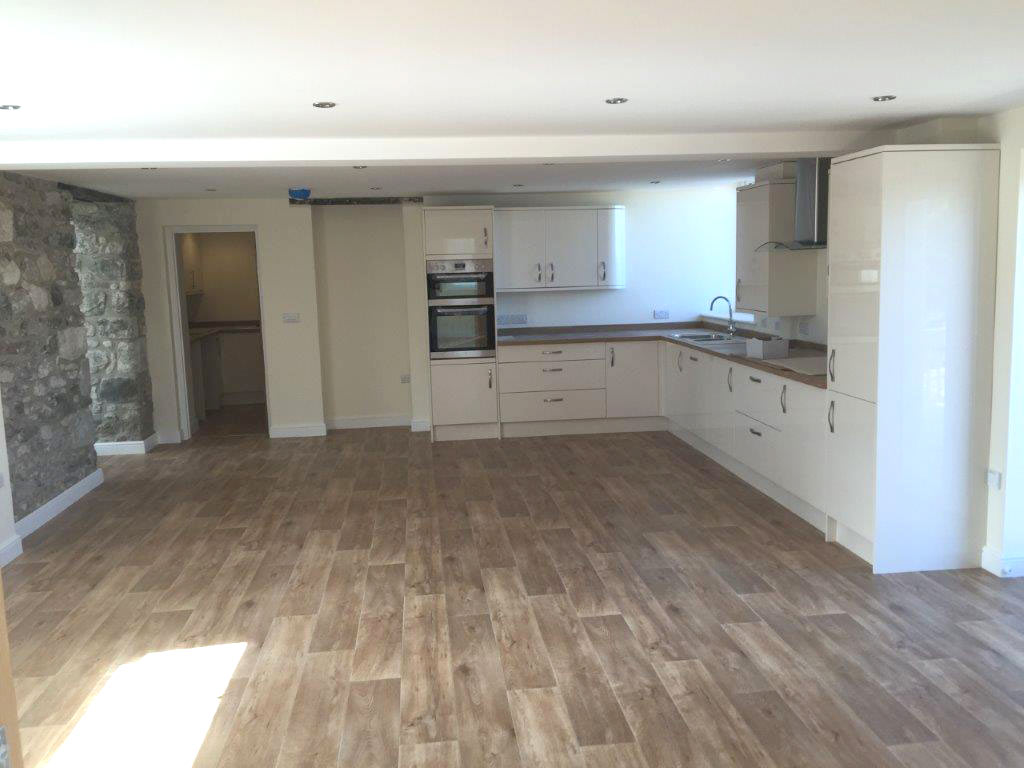 open plan wood flooring in newbuild